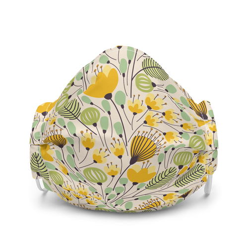 Pretty Spring Flowers face mask