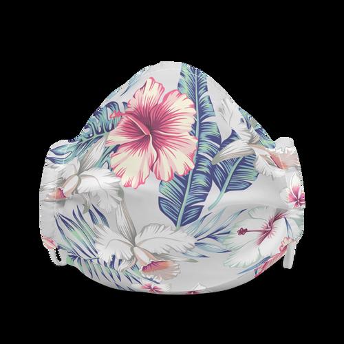 Tropical Floral Design face mask