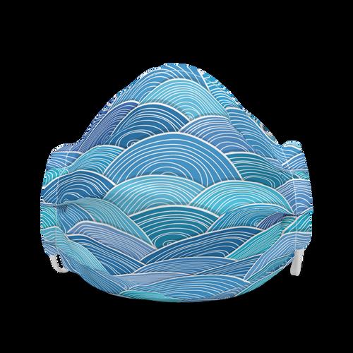 Blue Wave face mask