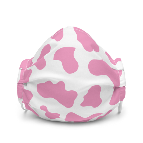 Pink Cow Patter face mask