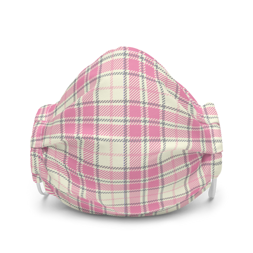 Pale Pink Plaid face mask