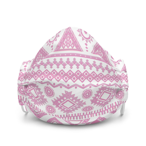 Pink Geometric Aztec Design face mask