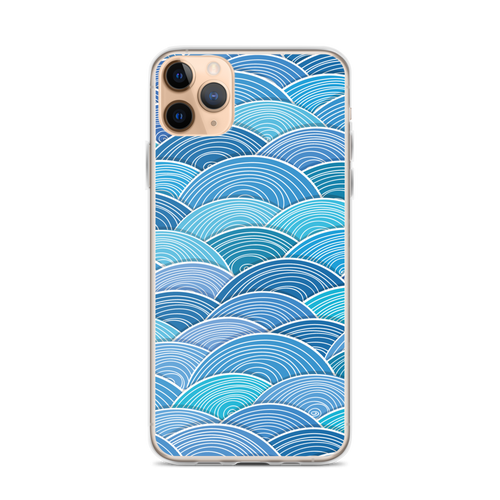 Blue Wave Pattern iPhone Case