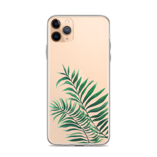 Two Painted Palms Transparent iPhone Case