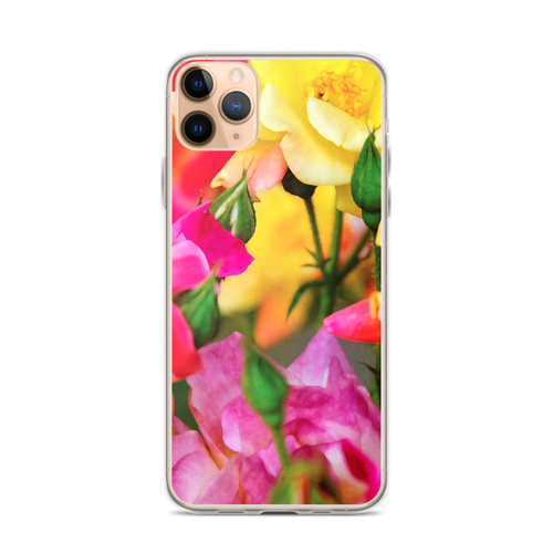 Colorful Pink and Yellow Roses iPhone Case