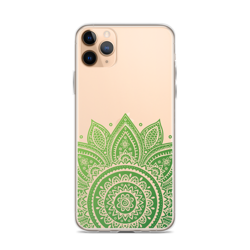 Green Henna Design iPhone Case