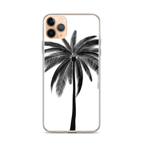 Black Palm Graphic iPhone Case