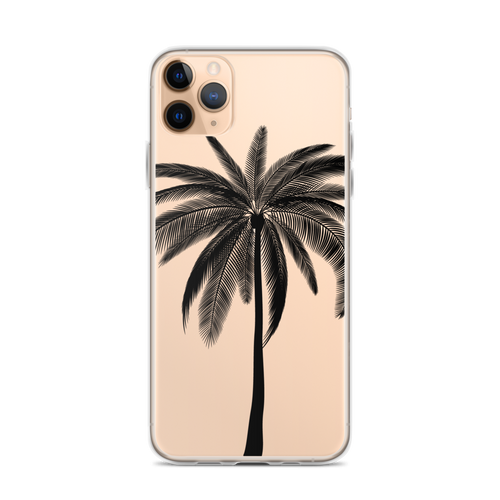 Black Palm Transparent iPhone Case