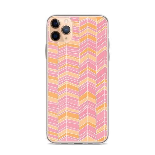 Orange and Pink Chevron iPhone Case