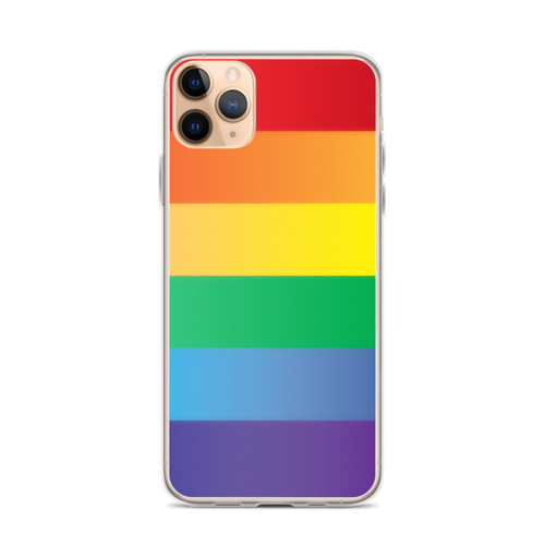 Rainbow Pride iPhone Case for iPhone models including 12, 12 Mini, 12 Pro, 12 Pro Max, 11, 11 Pro, 11 Pro Max, XR, XS Max, X/XS, 7Plus/8Plus, 7/8 and SE
