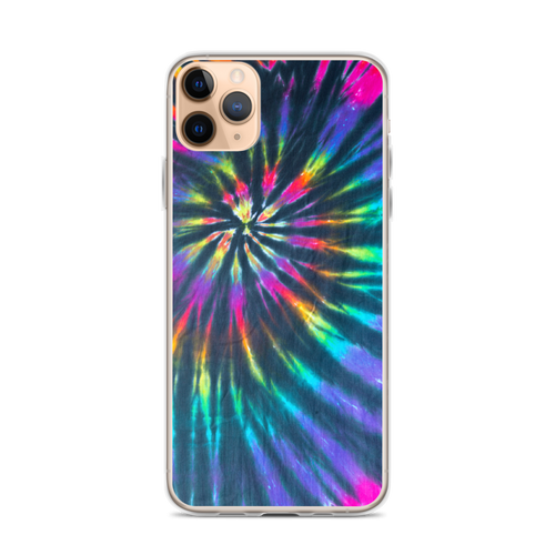 Colorful Tie Dye Rainbow Spiral iPhone Case
