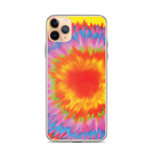 Tie Dye Rainbow Color Burst iPhone Case for iPhone models including 12, 12 Mini, 12 Pro, 12 Pro Max, 11, 11 Pro, 11 Pro Max, XR, XS Max, X/XS, 7Plus/8Plus, 7/8 and SE