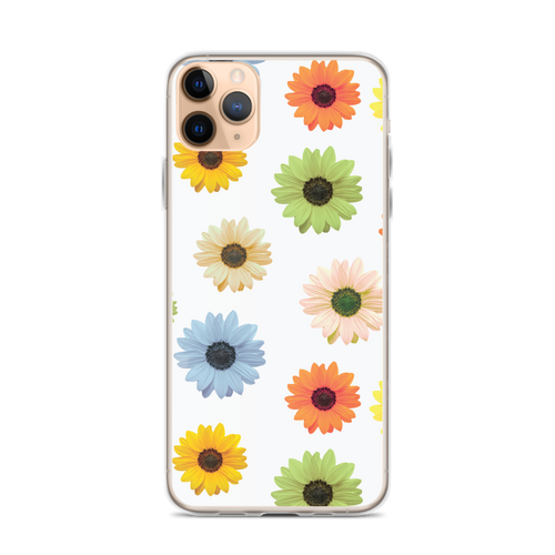 Colorful Daisies on White iPhone Case