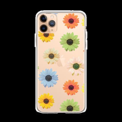 Colorful Daisies Transparent iPhone Case