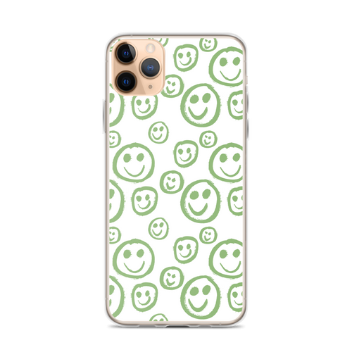 Green Smiley Face iPhone Case