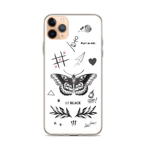 Larry's Tattoos iPhone Case for iPhone models including 12, 12 Mini, 12 Pro, 12 Pro Max, 11, 11 Pro, 11 Pro Max, XR, XS Max, X/XS, 7Plus/8Plus, 7/8 and SE