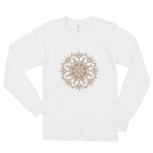 Brown Henna Tee - White