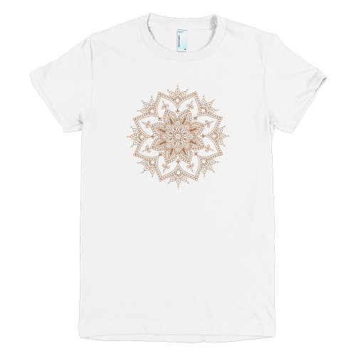 Brown Henna on White Tee