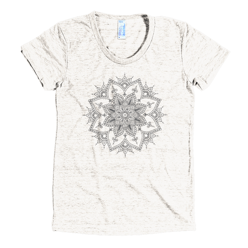 Henna Design American Apparel Tee in Tri-Oatmeal