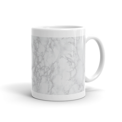 Smooth Grey Marble Mug