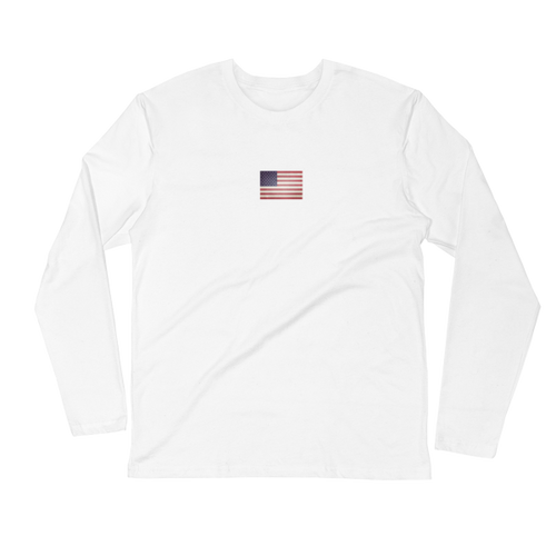US Flag long sleeve tee