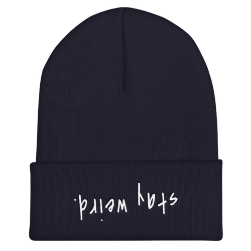 Stay Weird Navy Beanie