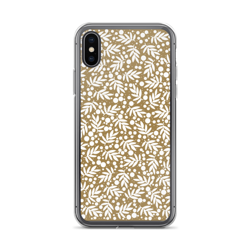Holiday Gold Leaf Pattern iPhone Case