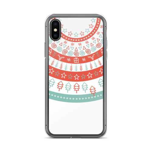 Fun Holiday Pattern iPhone Case on White