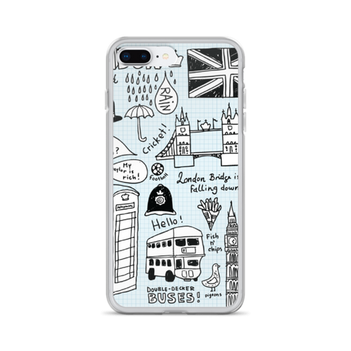 London Doodles iPhone Case