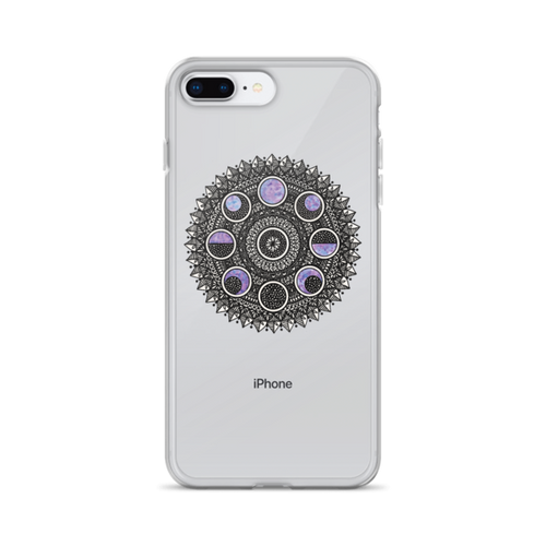 Moon Cycle Galaxy iPhone Case