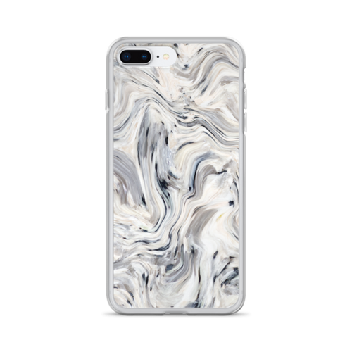 Grey Wave Marble iPhone Case