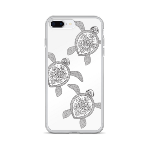 Black Henna Turtles iPhone Case