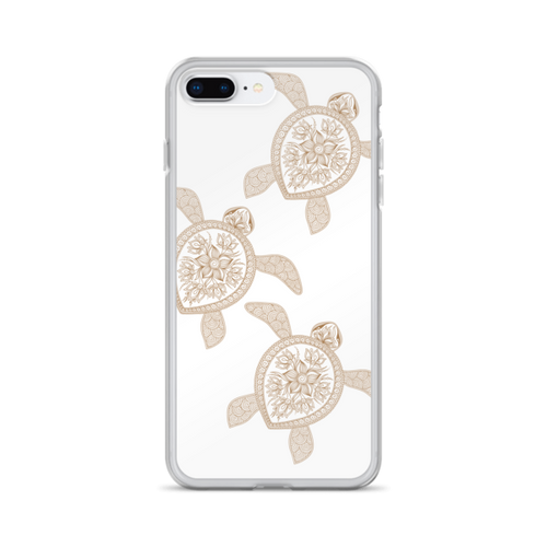 Brown Henna Turtles iPhone Case
