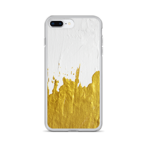 Gold Paint on White iPhone Case