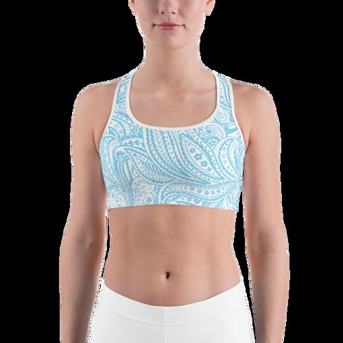 Blue Paisley Sports bra