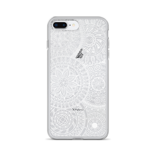 White Circle Doodles iPhone Case