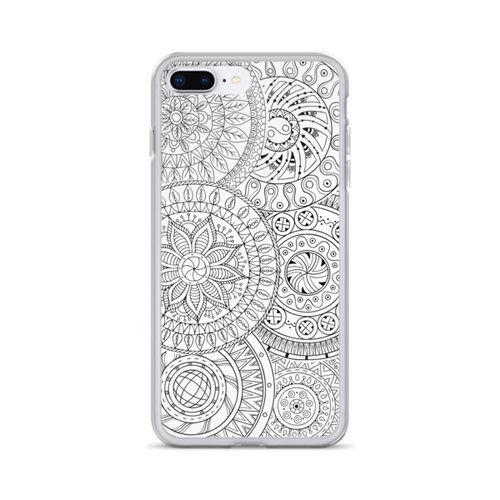 Circle Doodles iPhone Case
