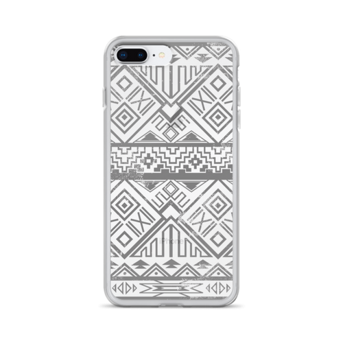 Faded Black Aztec iPhone Case