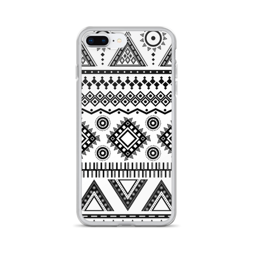 Solid Black Aztec iPhone Case