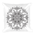 Blsck Henna Design Square Pillow