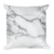 Black and Grey Marble Square Pillow