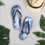 Blue Watercolor Flip Flops