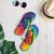 Colorful Spiral Tie Dye Flip Flops
