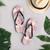 Pink Plaid Flip Flops