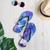 Purple Splotch Flip Flops