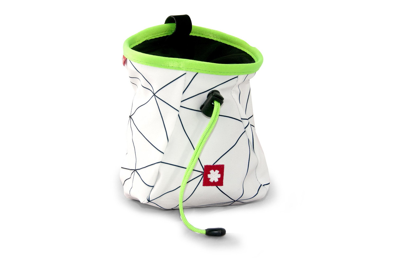 Lucky Chalk Bag White Green  @https://www.mountainmailorder.co.za/