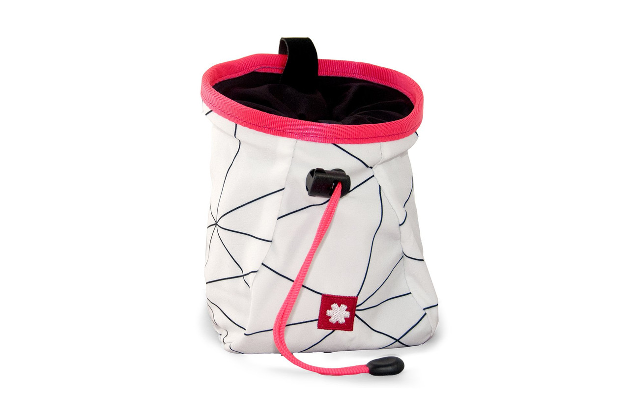 Lucky Chalk Bag White Pink @https://www.mountainmailorder.co.za/
