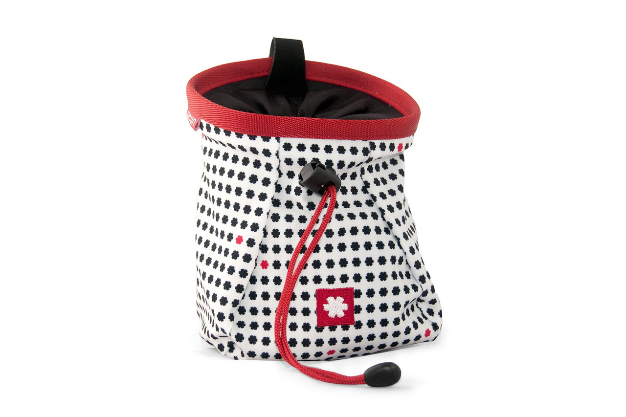 Lucky Chalk Bag White Red @https://www.mountainmailorder.co.za/