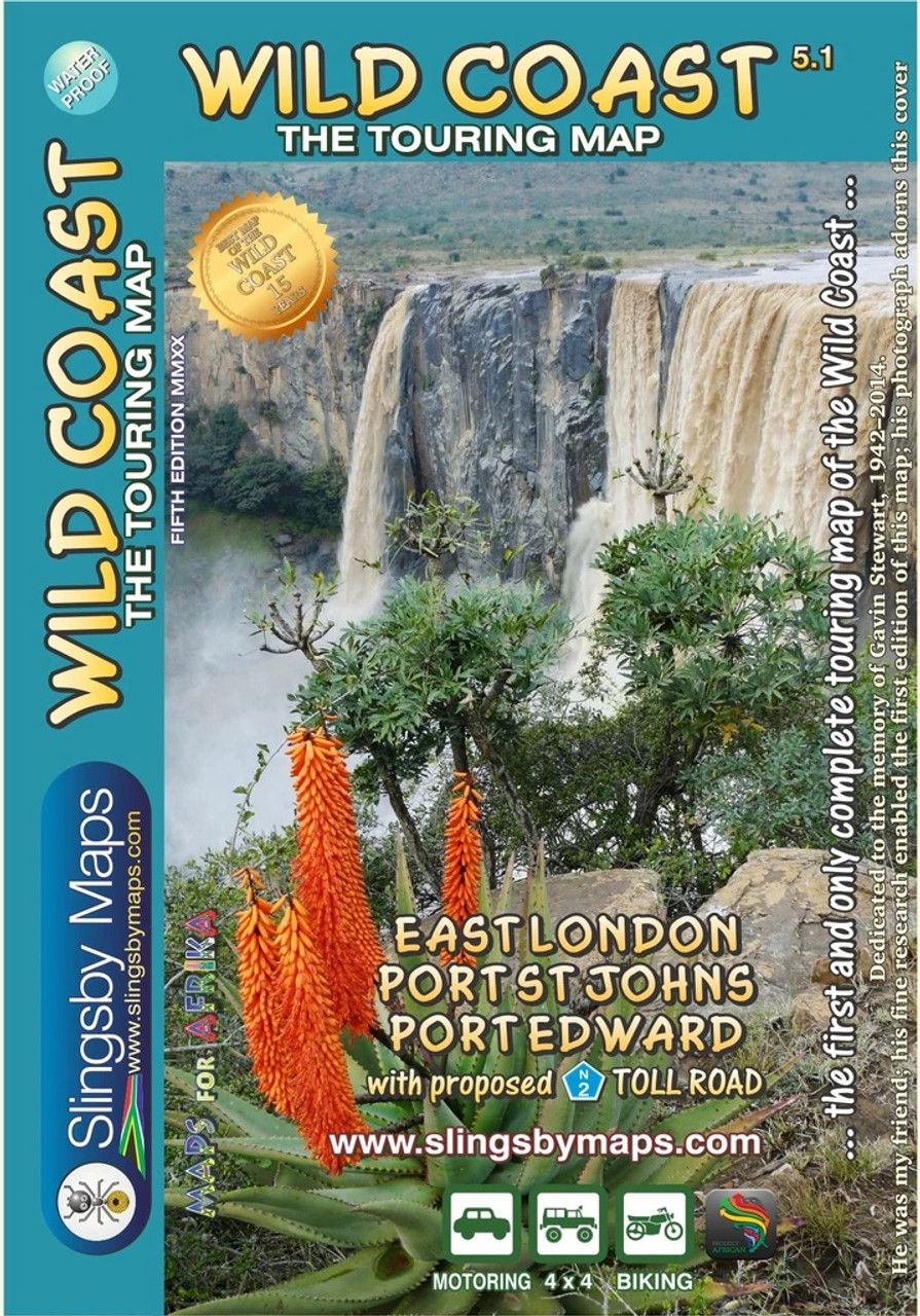 Slingsby Wild Coast Map @ https://www.mountainmailorder.co.za