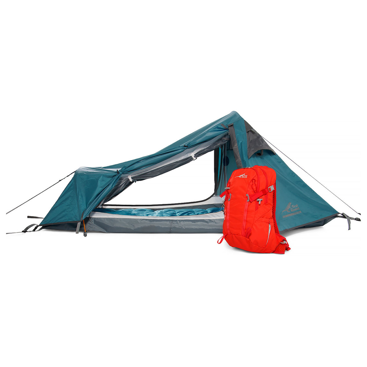 First Ascent Stamina - 1 Person Tent - Opened Doors - Online at Mountain Mail Order South Africa
